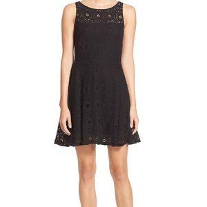 BB Dakota Renley Lace Fit & Flare Dress